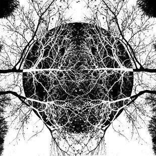 Dark Moon by Srinath V, Abstract Digital Art, Digital Print on Archival Paper, Cod Gray color