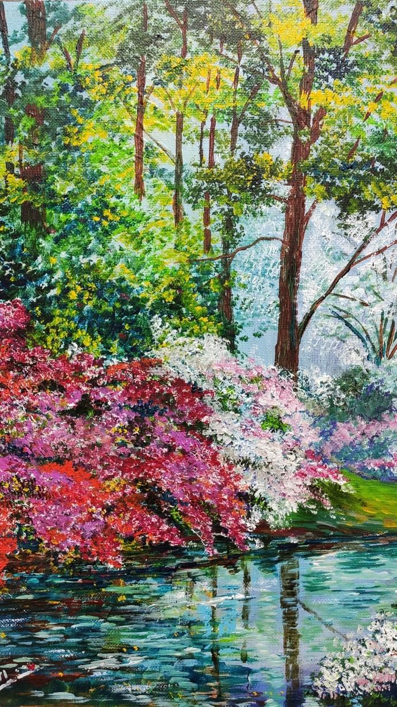 Solitude by Bhaswati Boruah , Illustration, Impressionism Painting, Acrylic on Canvas, Cabbage Pont color