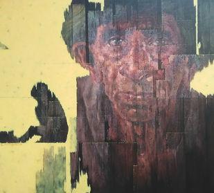 Awaiting by Susanta Das, Pop Art Painting, Acrylic on Canvas, Emperor color