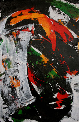 Agony by Mahvash Masood, Abstract Painting, Acrylic on Canvas, Malta color