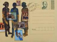 Message by Harshada Kolapkar, Illustration Painting, Acrylic on Canvas, Sorrell Brown color