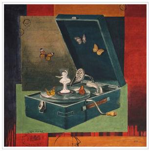 Love of oblivion 1 by Tapas Das, Conceptual, Minimalism Painting, Tempera on Board, Cape Cod color