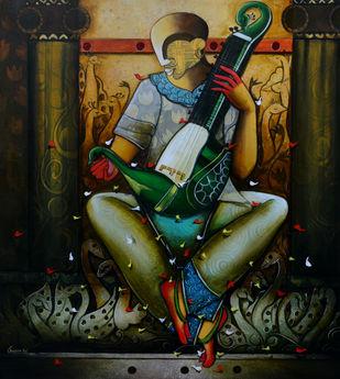 musical band 15 Digital Print by anupam pal,Expressionism
