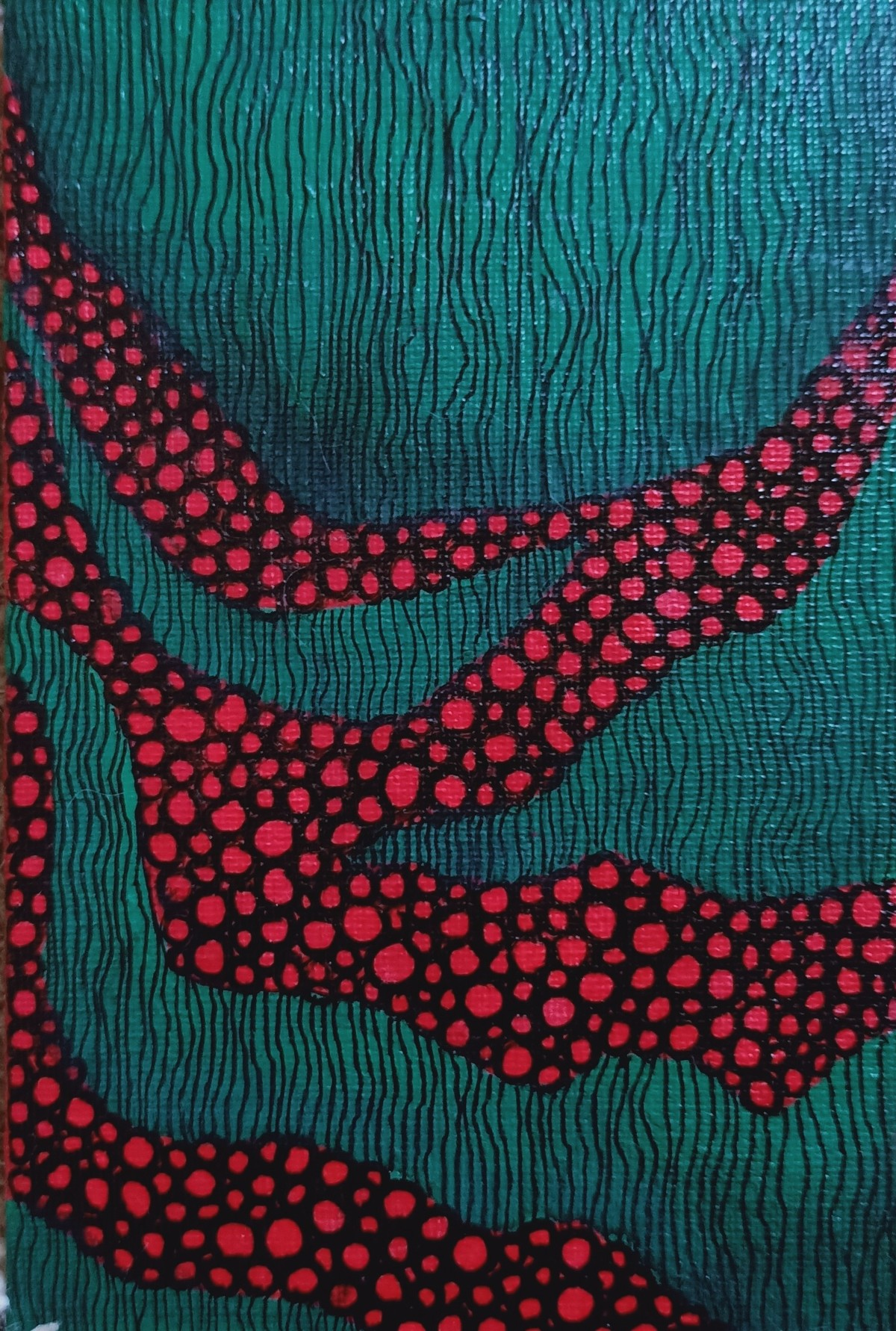 Green by Anissha Deshpande, Decorative, Illustration Painting, Acrylic on Canvas, Gable Green color