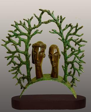 couple by Subrata Paul, Art Deco Sculpture | 3D, Bronze, Bandicoot color