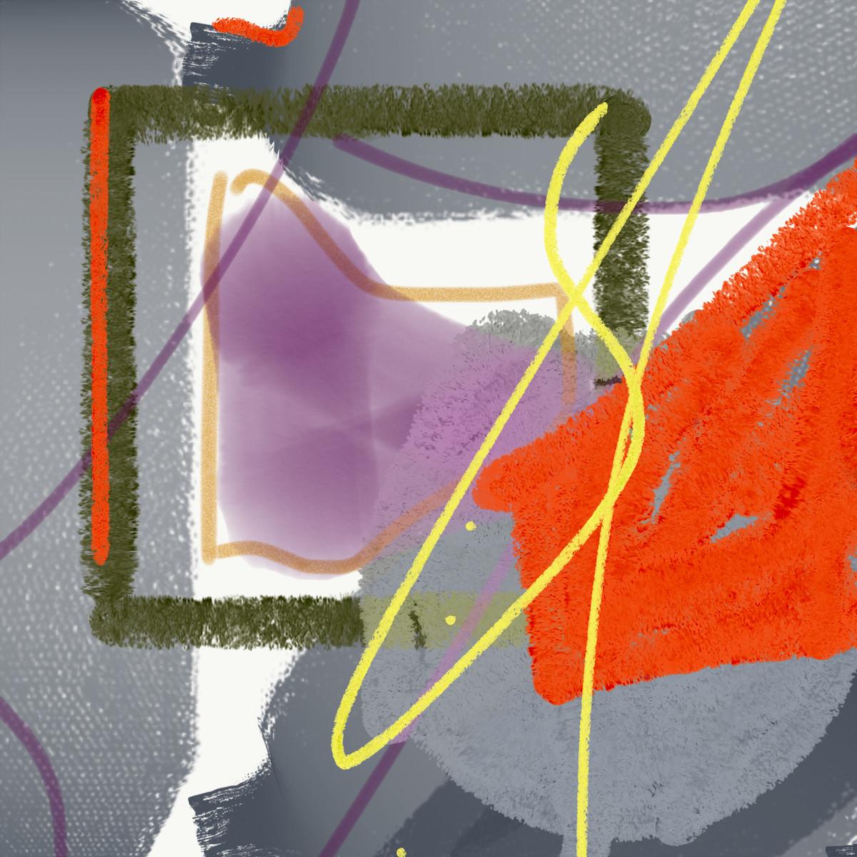 ABSTRACT by Suvarna Dheringe, Abstract, Digital Digital Art, Digital Print on Canvas, Mamba color