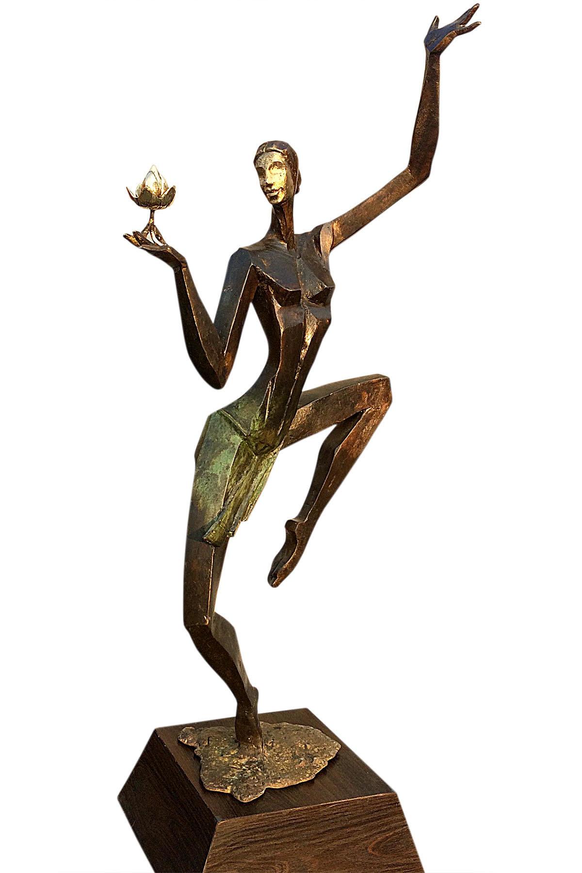 Beaty and Grace by Shashi Paul, Art Deco Sculpture   3D, Bronze, Black Marlin color
