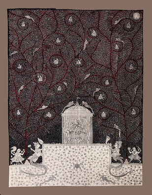 mata-ni-pacedi by Unknown Artist, Folk Painting, Vegetable Dye on Cotton,