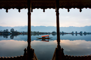 lake view by Shahid Hussain, Digital Photography, Inkjet Print on Archival Paper, Gray color