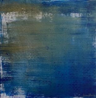 Origin 6 by Shraddha Rathi, Abstract Painting, Acrylic on Canvas, San Juan color