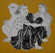 UNTITLED by Laxman Aelay, Illustration Painting, Acrylic on Canvas, Kumera color