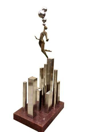 Beyond Horizon by Shashi Paul, Art Deco Sculpture | 3D, Bronze, Millbrook color