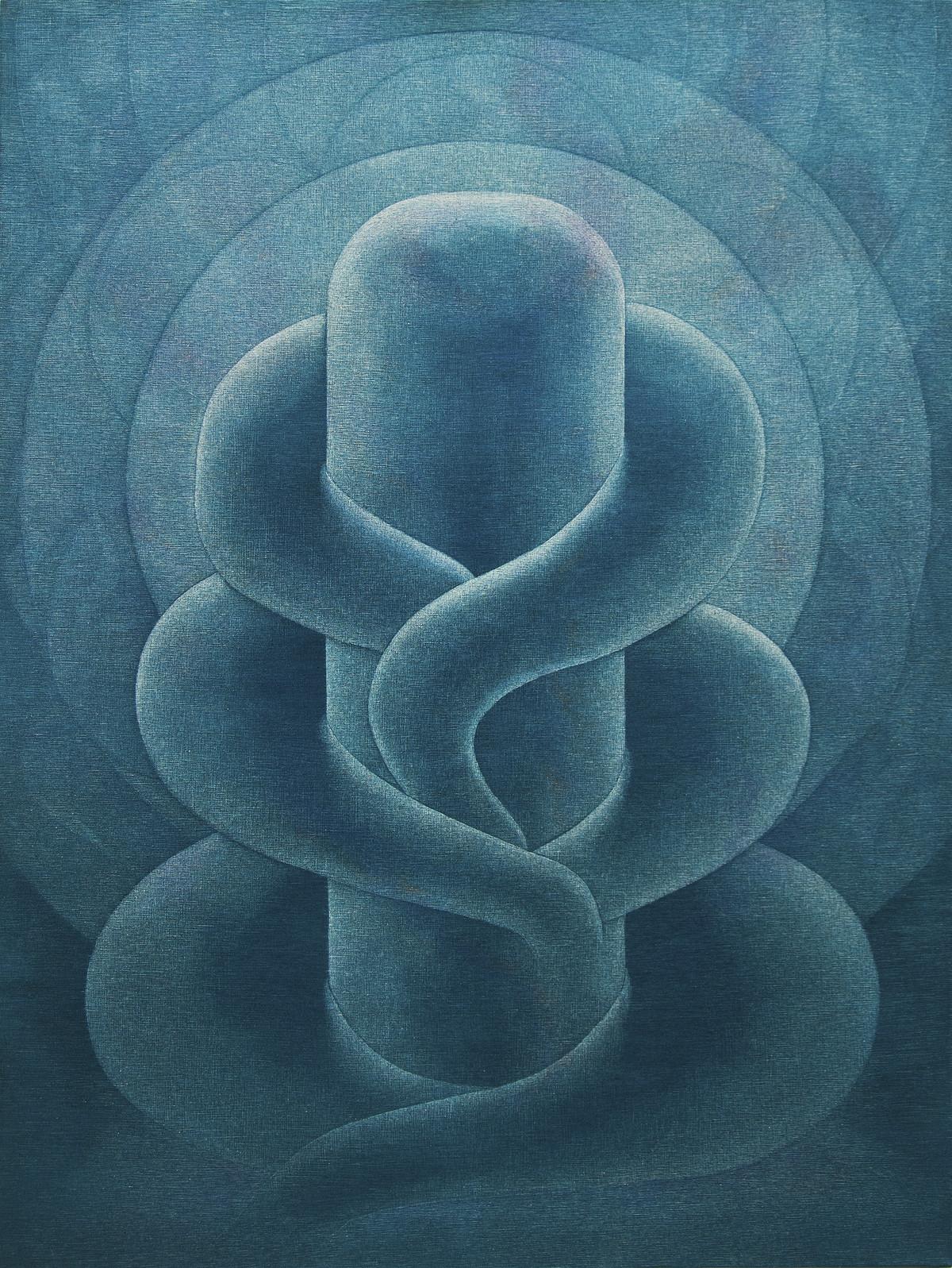 Girisham Ganesham by Hanumantha Rao Devulapalli, Conceptual Painting, Mixed Media on Canvas, Gray color