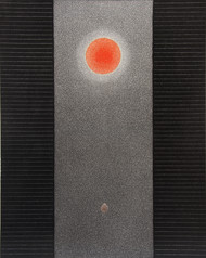Beeja by Hanumantha Rao Devulapalli, Geometrical Painting, Acrylic on Canvas, Black color