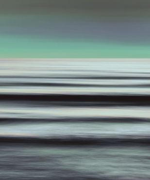 Seascape No. 5 by M. Shafiq, Digital Photography, Digital Print on Archival Paper, Gray color