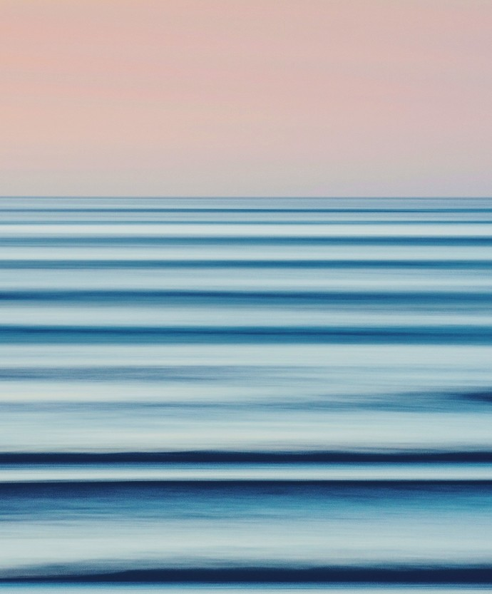 Seascape No. 6 by M. Shafiq, Digital Photography, Digital Print on Archival Paper, Silver color