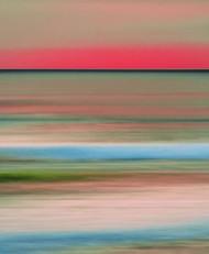 Seascape No. 2 by M. Shafiq, Digital Photography, Digital Print on Archival Paper, Purple color