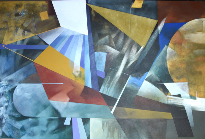 Poetics of emotions CXVII by Kandan G, Abstract Painting, Acrylic on Canvas, Gray color