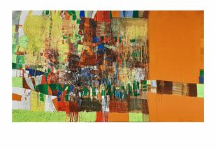 untitled by Yogesh murkute, Abstract Painting, Mixed Media on Canvas, White color