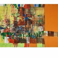 Year  2019  size   33 x 57 inches  medium  mix media on canvas