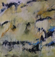 Title-Inspired by light 2 by Neena Singh, Abstract Painting, Acrylic on Canvas, Gray color