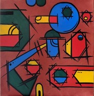 Untitled by Sanket Sagare, Abstract Painting, Acrylic on Canvas, Maroon color