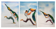 LOVE by Sunil Lohar, Illustration Painting, Watercolor on Paper, Silver color
