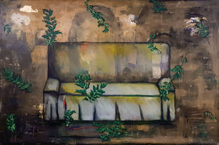 Gratitude 1 by riddhima sharraf, Conceptual Painting, Mixed Media on Canvas, Gray color