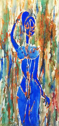 Nude I Digital Print by Atul Talukdar,Illustration