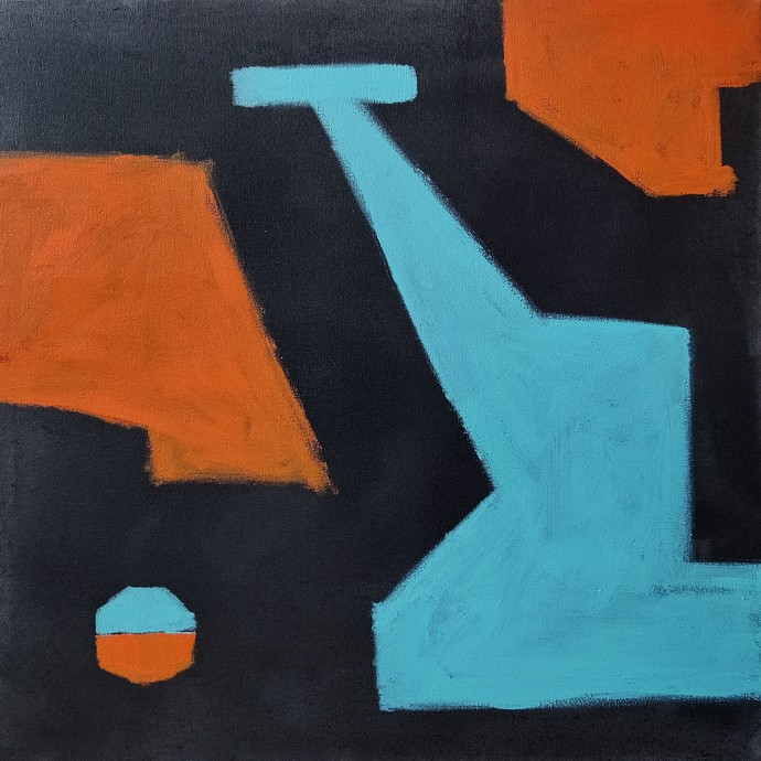 Untitled 2 by Sanket Sagare, Abstract Painting, Acrylic on Canvas, Gray color