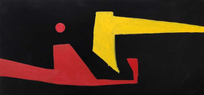 Untitled 1 by Sanket Sagare, Abstract Painting, Acrylic on Canvas, Black color