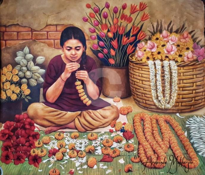 Flower Girl By Arabinda Mukherjee