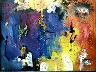 Zero to zero by Mainak chakrabortty , Abstract Painting, Mixed Media on Board, Gray color