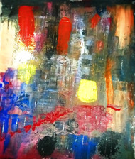 Vertical by Mainak chakrabortty , Abstract Painting, Acrylic on Canvas, Gray color