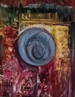 Marriage by Poornima Dayal, Abstract Painting, Acrylic on Canvas, Gray color