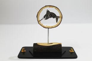 Steampunk Swordfish by Nikhil Dayanand, Art Deco Sculpture | 3D, Metal, Silver color