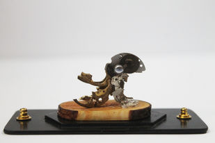 Steampunk Octopus by Nikhil Dayanand, Art Deco Sculpture | 3D, Metal, Silver color