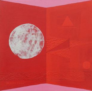 Full Moon by Dipa Das, Geometrical Painting, Acrylic on Canvas,