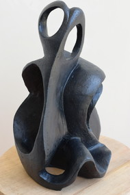Wave of Imagination by Aarti Gupta Bhadauria, Art Deco Sculpture | 3D, Terracotta, Silver color