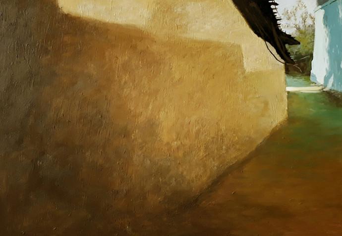 childhood memories I 10 by Sandeep Ghule, Illustration Painting, Acrylic on Canvas, Maroon color