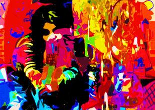 Dream Digital Print by Sunder Menon,Pop Art