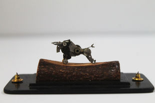 Steampunk Bull by Nikhil Dayanand, Art Deco Sculpture | 3D, Metal, Silver color