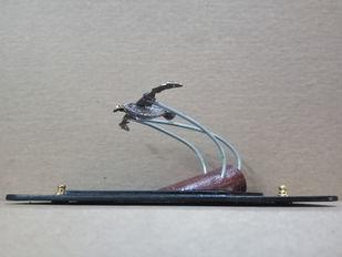 Steampunk Albatross by Nikhil Dayanand, Art Deco Sculpture | 3D, Metal, Silver color