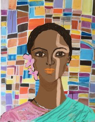 Tejaswini series 3 by Simmi Khanna, Digital Digital Art, Digital Print on Paper, Purple color