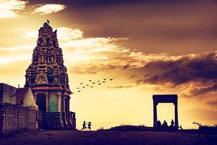 Golden Days by Jegannathaan Jn, Digital Photography, Digital Print on Paper, Orange color