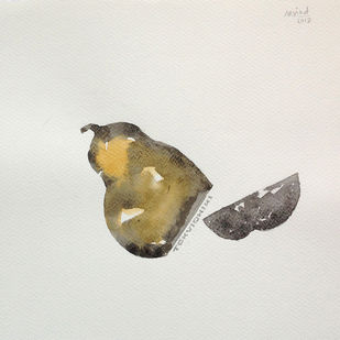 untitled 1682 by Arvind V Patel, Illustration Drawing, Watercolor on Paper, Silver color