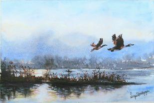 Flying free Digital Print by Lasya Upadhyaya,Illustration