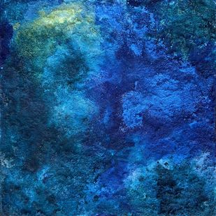 Untitled 3, Cold21 by Vanshita arora , Abstract Painting, Mixed Media on Canvas, Navy color