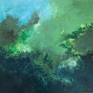 Untitled by Nishi Nitya sharma, Abstract Painting, Acrylic on Canvas, Gray color