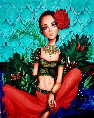 Advita Digital Print by Manvee Singh,Illustration